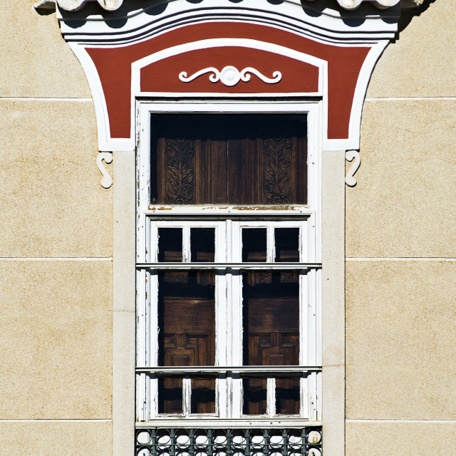 """Decorated window"" stock image"