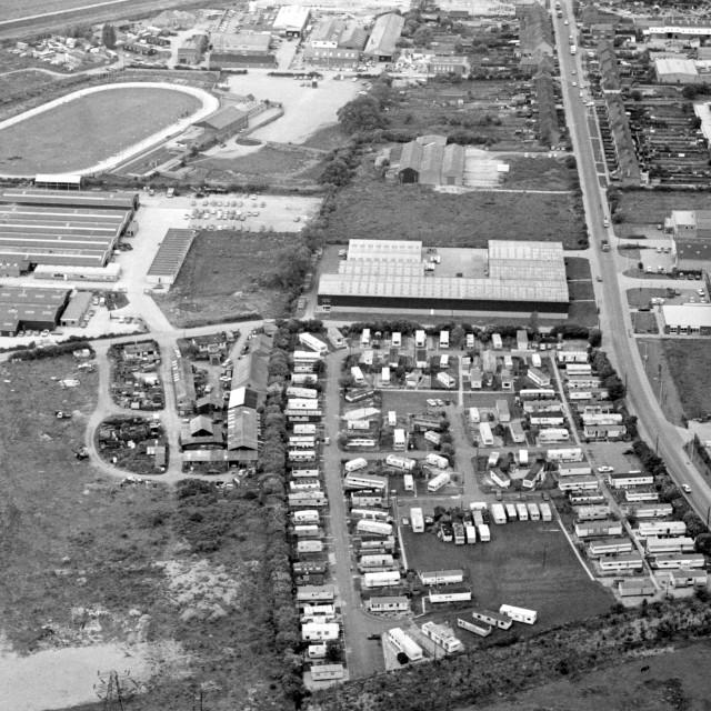 """Fengate - Fengate Park and Greyhound Stadium (1980)"" stock image"
