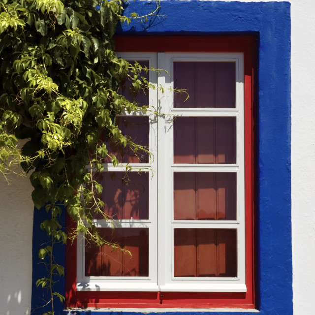 """Red window"" stock image"