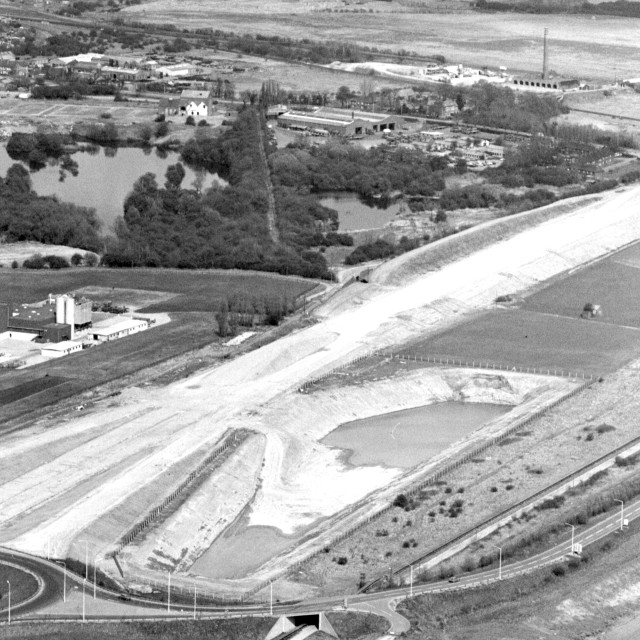 """Fletton Parkway - Under Construction (1982)"" stock image"