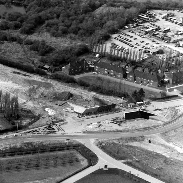 """London Road - Phorpres Houses (1982)"" stock image"