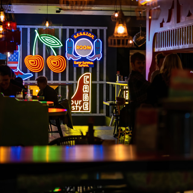 """""""Colours of the pub"""" stock image"""