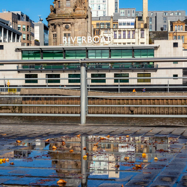 """""""Reflection of a Riverboat"""" stock image"""