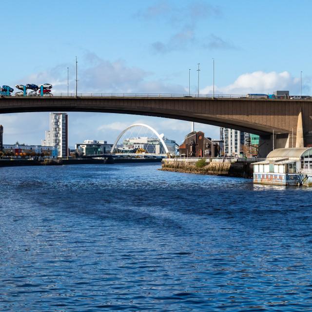 """""""Kingston bridge, Glasgow"""" stock image"""