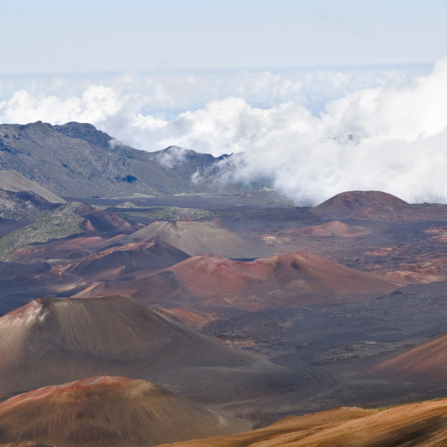 """""""Clouds over Dormant Volcano Craters"""" stock image"""