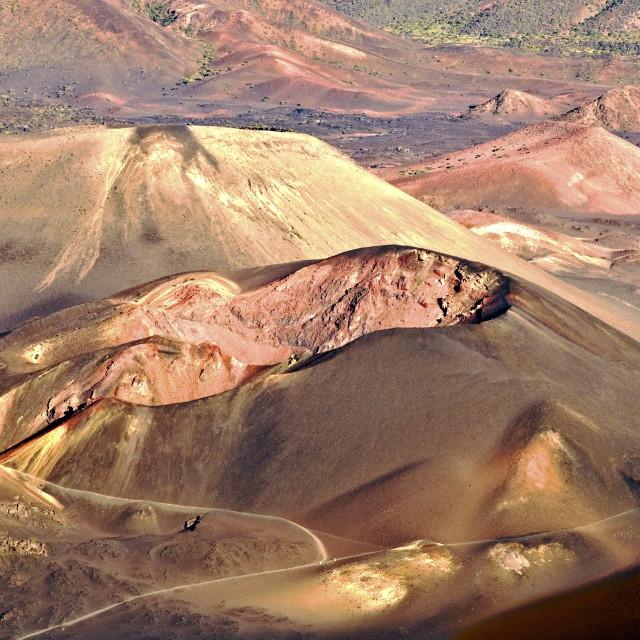 """Dormant Volcano Craters"" stock image"