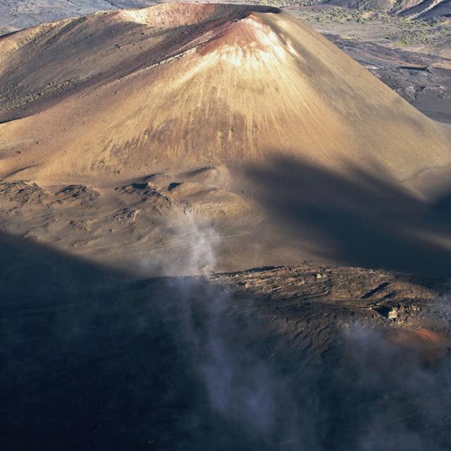 """Dormant Volcano Crater"" stock image"