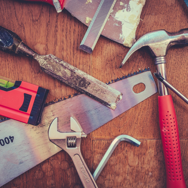 """Assortment Of Workshop Tools"" stock image"