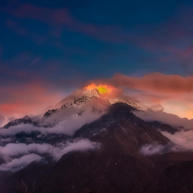 """""""Dusk on the Himalayas"""" stock image"""