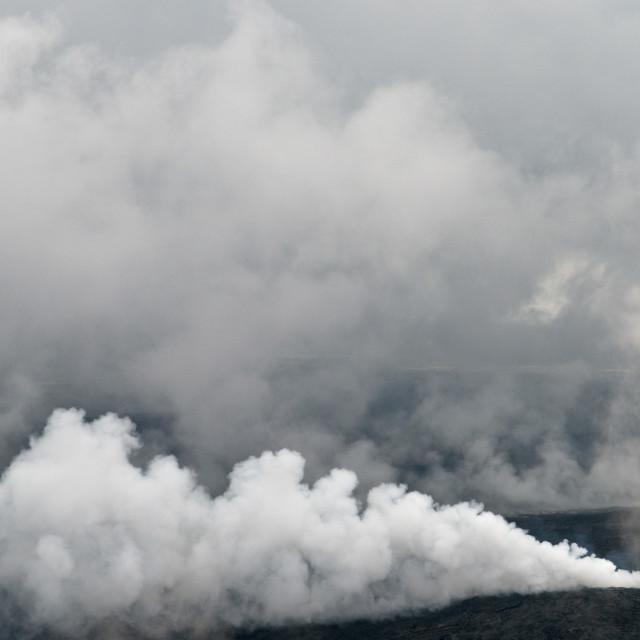 """""""Smoking Lava Fields"""" stock image"""