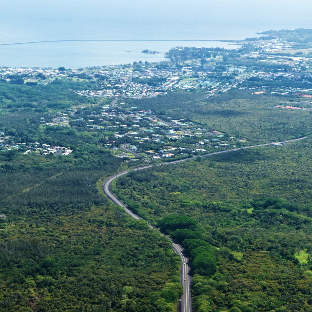 """""""Hilo from the Air"""" stock image"""