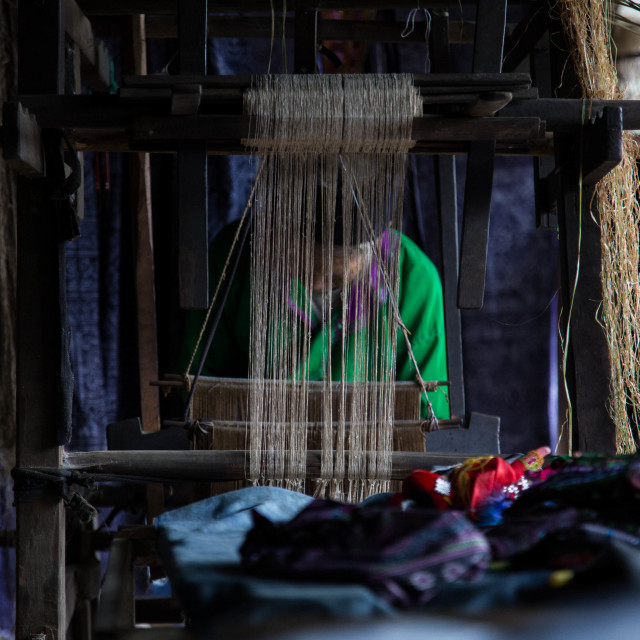 """Dye working lady"" stock image"