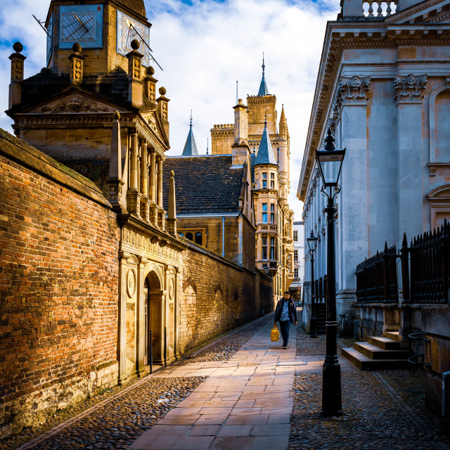 """Gonville & Caius College, University of Cambridge."" stock image"