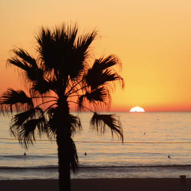 """HB sunset"" stock image"