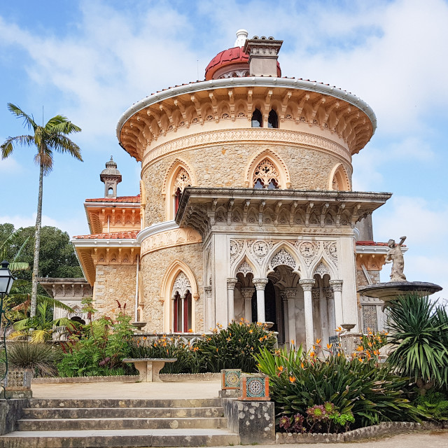 """Palace of Monserrate on a sunny day. Portugal"" stock image"