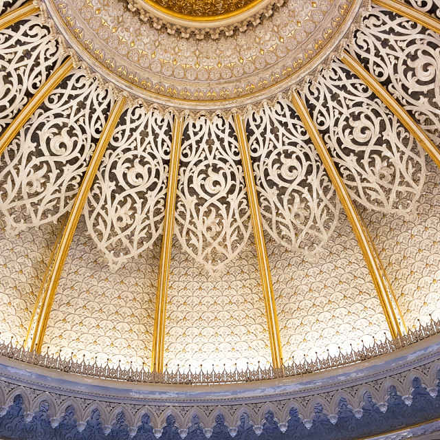 """Patterned dome decorations in oriental style"" stock image"