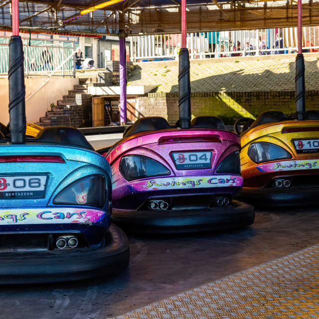 """Dodgems at the seaside"" stock image"