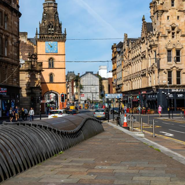 """""""Along Argyle street Glasgow towards the Tron"""" stock image"""