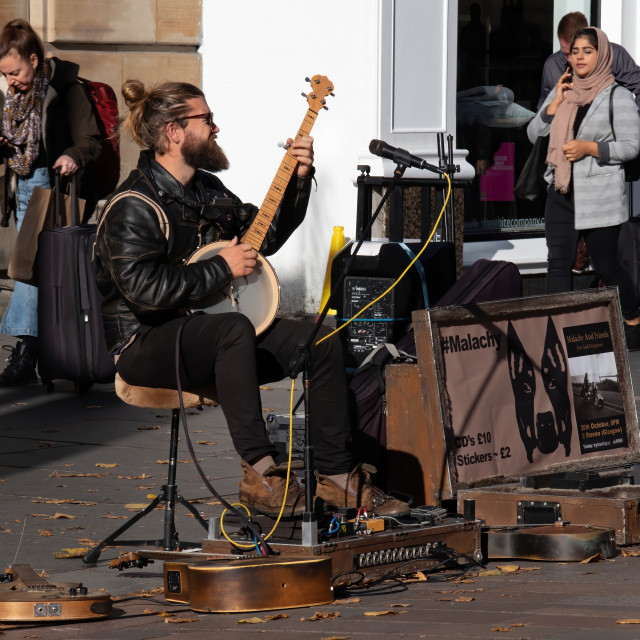 """""""Jamming in the Street"""" stock image"""