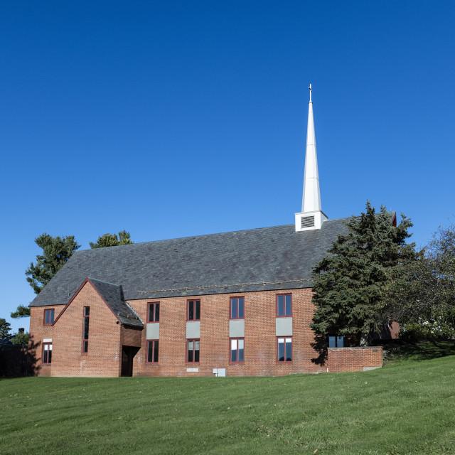 """""""Salisbury School chapel"""" stock image"""