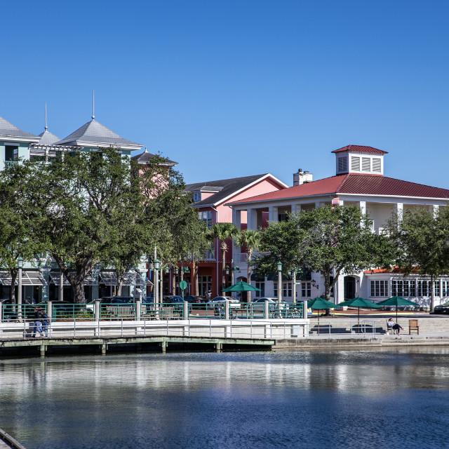 """Downtown Celebration Florida"" stock image"