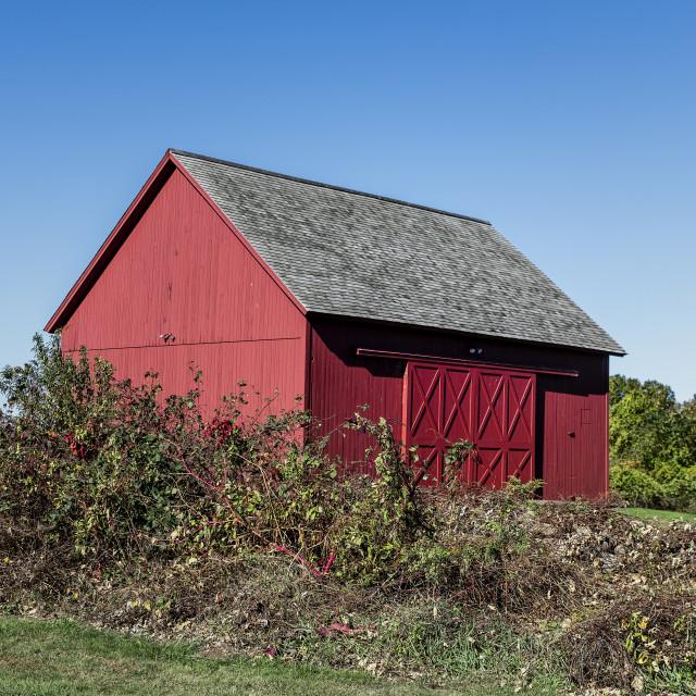 """Rustic red barn"" stock image"