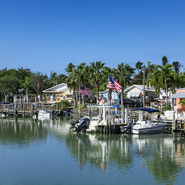 """""""The small coastal town of Goodland on Marco Island"""" stock image"""