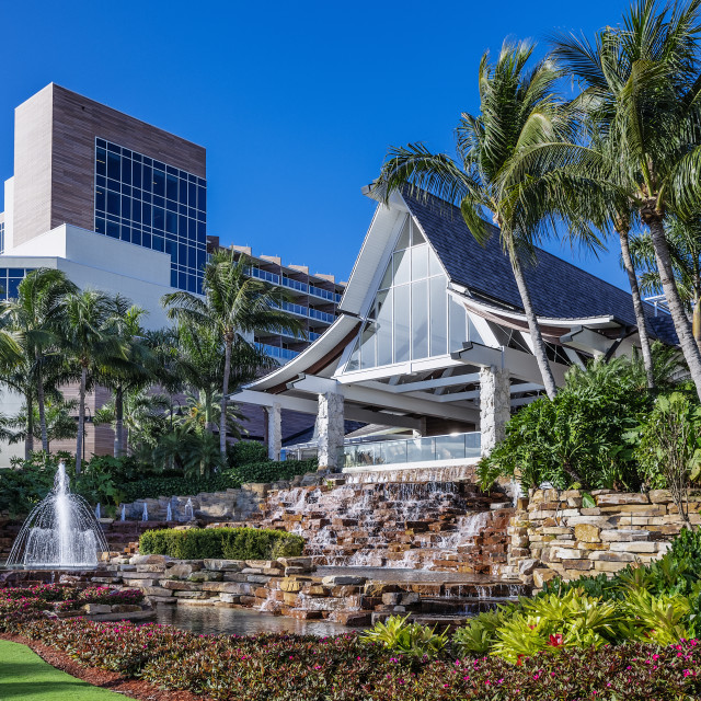"""""""Exterior of the Hilton Resort and Spa Hotel"""" stock image"""