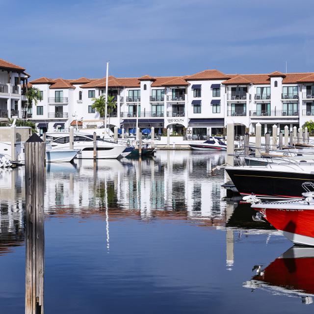 """Naples Bay Resort and Marina"" stock image"