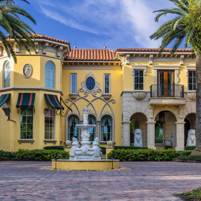 """""""Exquisite upscale home in Old Naples"""" stock image"""
