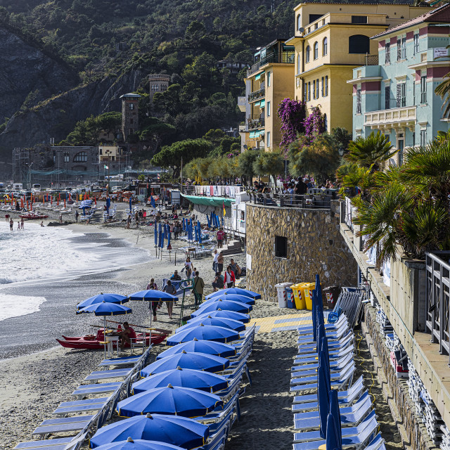 """""""The seaside resort town of Monterosso"""" stock image"""