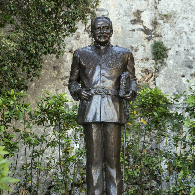 """""""Prince Rainier III statue at the Place du Palais in Monaco"""" stock image"""