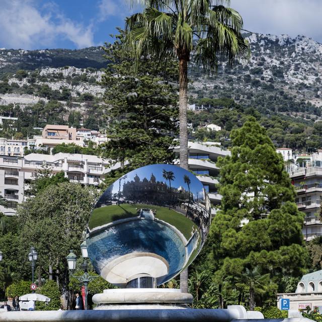 """Sky Mirror sculpture in Monaco"" stock image"