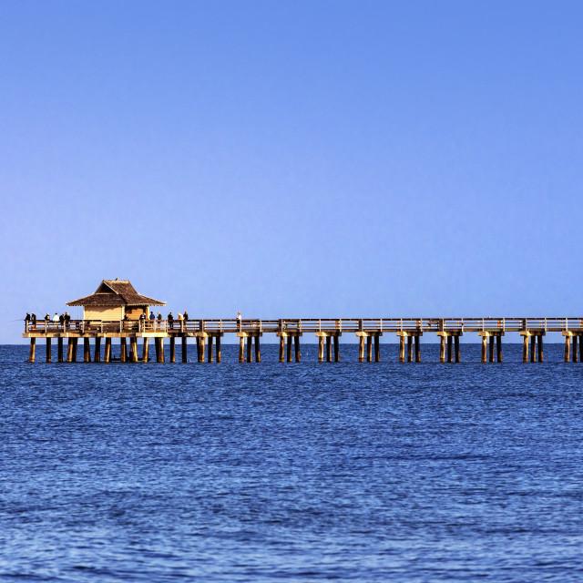 """Naples Municipal Beach & Fishing Pier"" stock image"