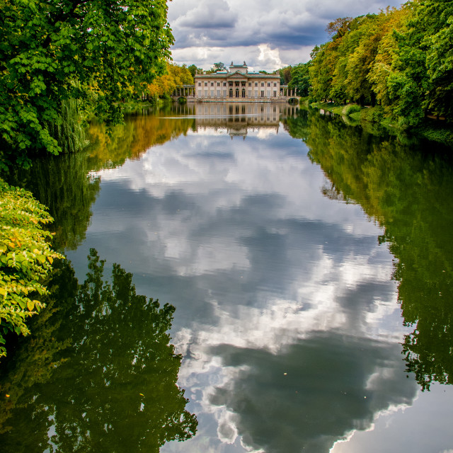"""'Palace on the Isle', in Warsaw's Royal Baths Park"" stock image"