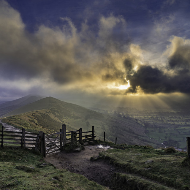 """""""Hope Valley from the Great Edge, Peak District National Park"""" stock image"""