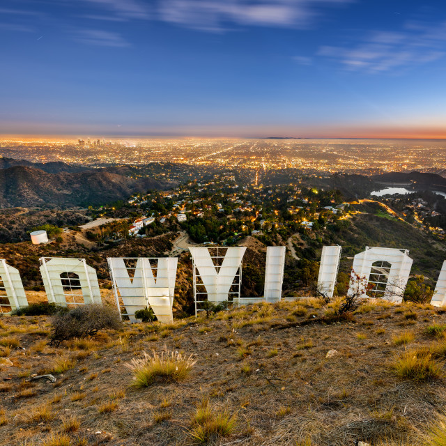 """Hollywoodland"" stock image"