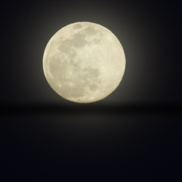 """Super Worm Moon"" stock image"