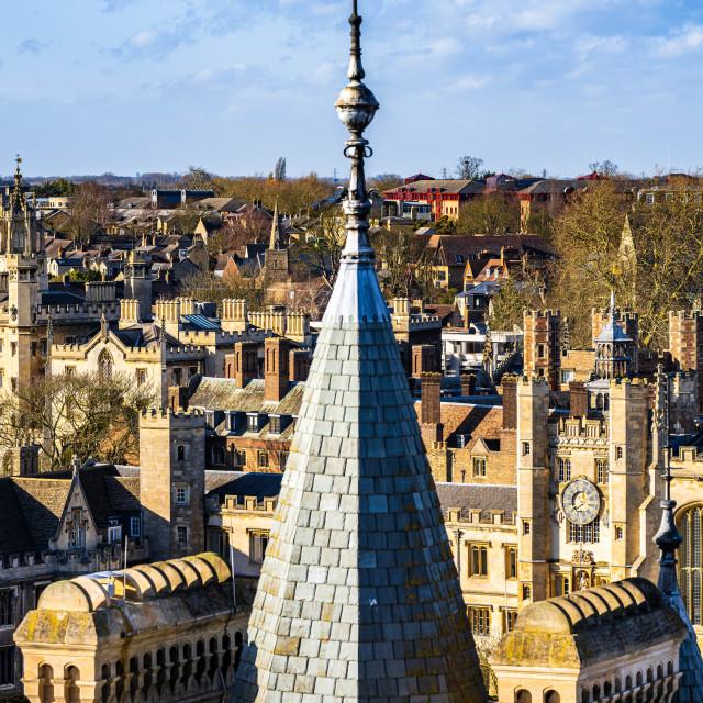 """Gonville & Caius College Spire, University of Cambridge UK."" stock image"