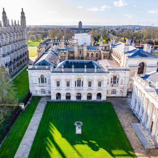 """The Old Schools, Cambridge University UK."" stock image"