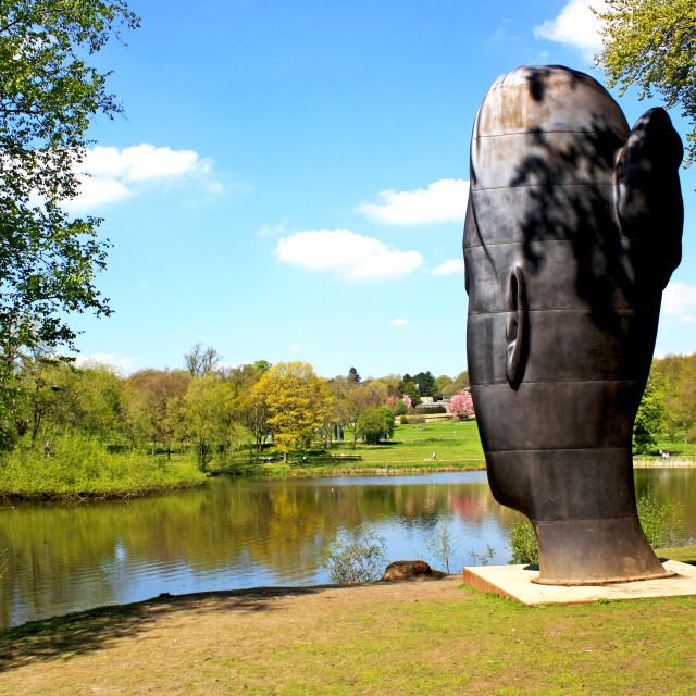 """Yorkshire Sculpture Park"" stock image"