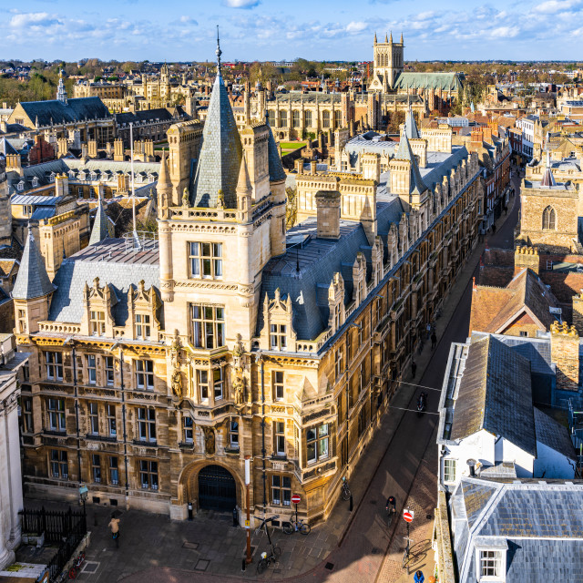 """""""Gonville & Caius, University of Cambridge UK."""" stock image"""