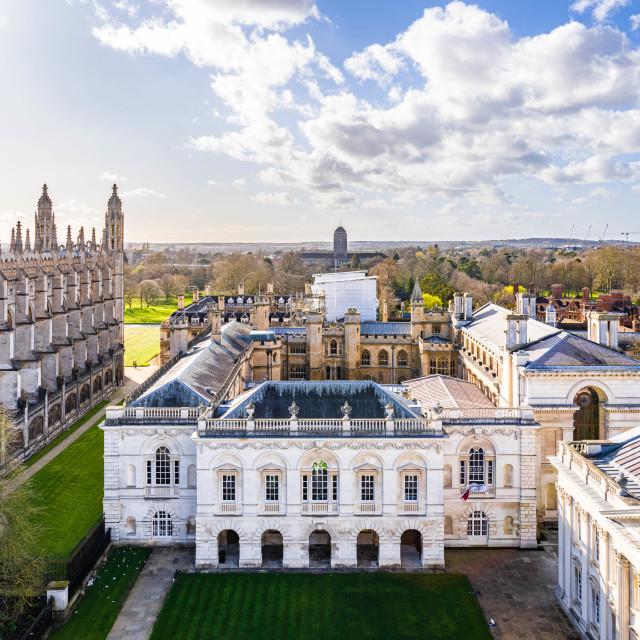 """The Old Schools, University of Cambridge UK"" stock image"