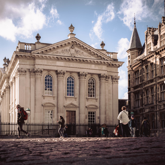 """""""The Old Schools, King's Parade Cambridge UK."""" stock image"""