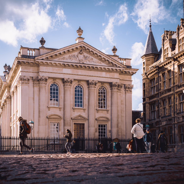 """""""The Old Schools, King's Parade Cambridge UK"""" stock image"""