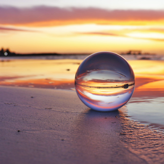 """Wallaroo Crystal Sunset"" stock image"