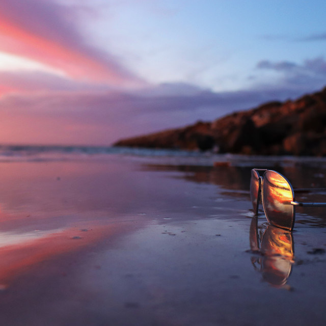 """Reflecting on Wallaroo"" stock image"