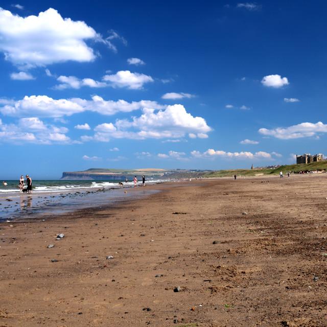 """""""Summer sky over Marske & Saltburn beaches."""" stock image"""