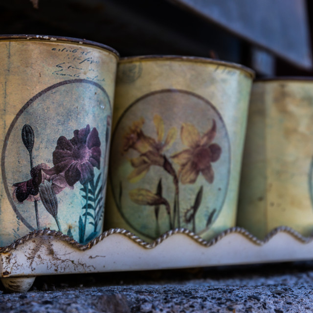"""Old cups"" stock image"