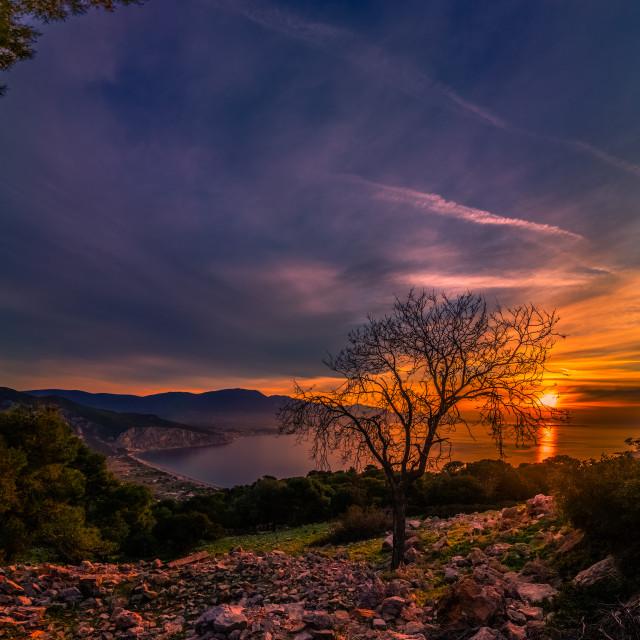 """""""A beautiful sunset"""" stock image"""